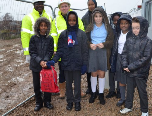 Children bury time capsule at Oaklands site in Old Oak